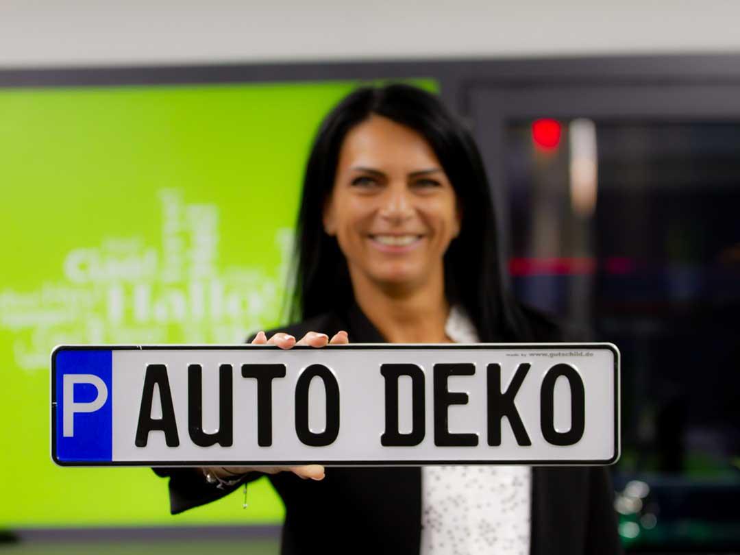 Kennzeichen Auto Deko gebrauchte Fahrzeuge